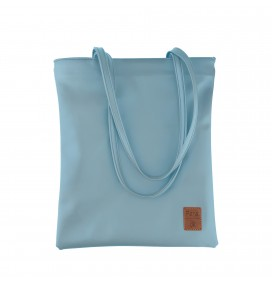 Pera Blue Zippered Tote Bag