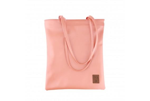 Pera Pink Zippered Tote Bag