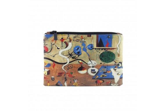 Joan Miro Carnival of Harlequin Printed Portfolio and Bag Organizer