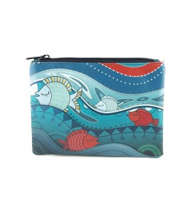 Fishes Printed Portfolio and Bag Organizer