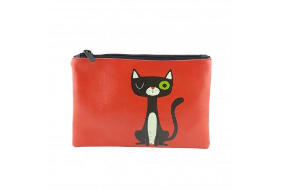 Cat Printed Portfolio and Bag Organizer