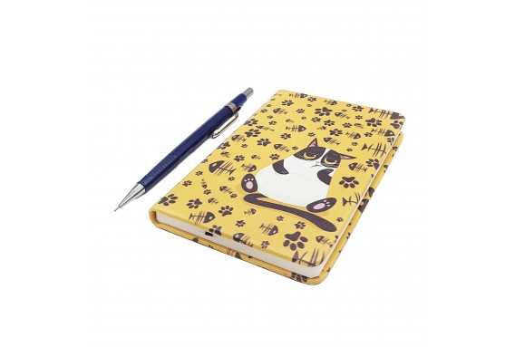 Cat Printed Pocked Notebook