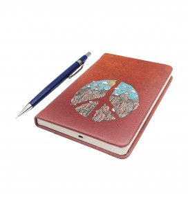 Peace Printed Pocked Notebook