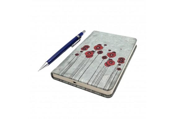 Poppy Printed Pocked Notebook