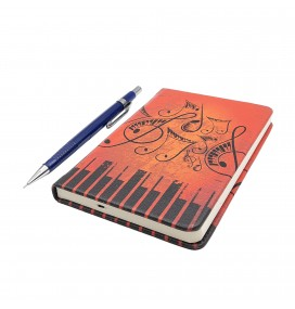 Music Notes Printed Pocked Notebook