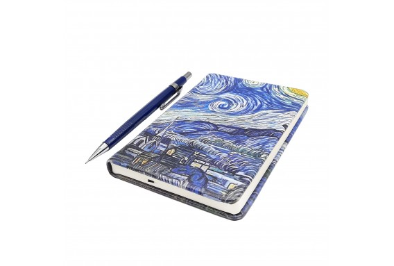 Van Gogh Starry Night Printed Pocked Notebook
