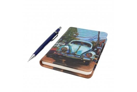VW Beetle Printed Pocked Notebook