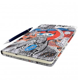 Cat Printed Custom Design Big Notebook