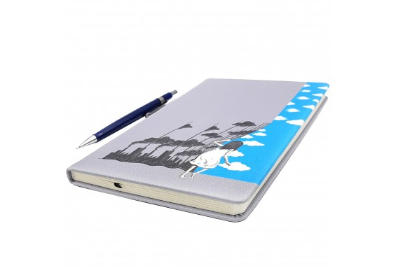 Ecological Curtain Printed Big Notebook