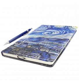 Van Gogh Starry Night Printed Printed Custom Design Big Notebook