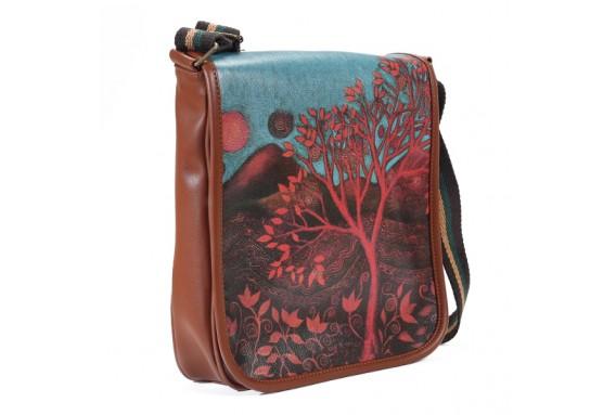 Tree Printed Sholuder Bag