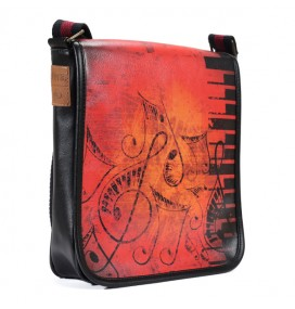 Musical Note Printed Shoulder Bag