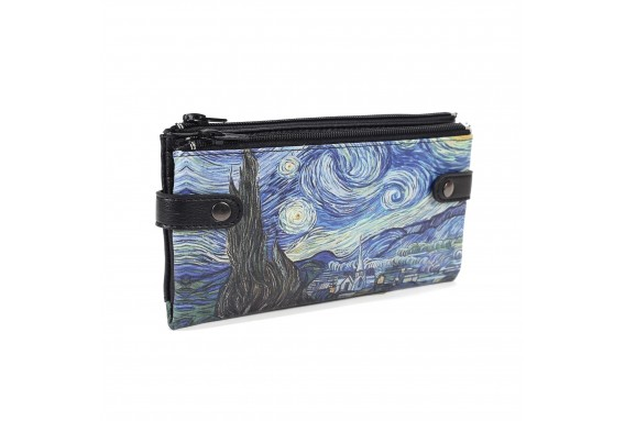 VAN GOGH STARRY NİGHT PRINTED CUSTOM DESIGN WALLET