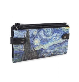 Van Gogh Starry Night Printed Custom Design Wallet