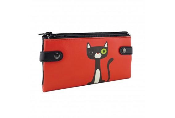 R Cat Printed Custom Design Wallet
