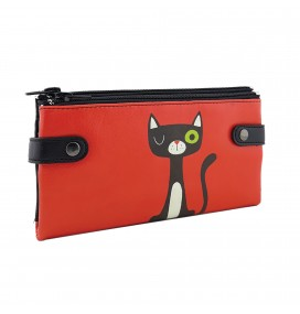 R Cat Printed Custom Design Wallet