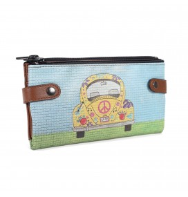 Beetle Car Printed Custom Design Wallet