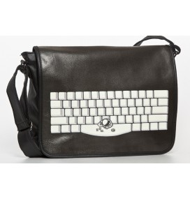 Spacebar black big messenger bag