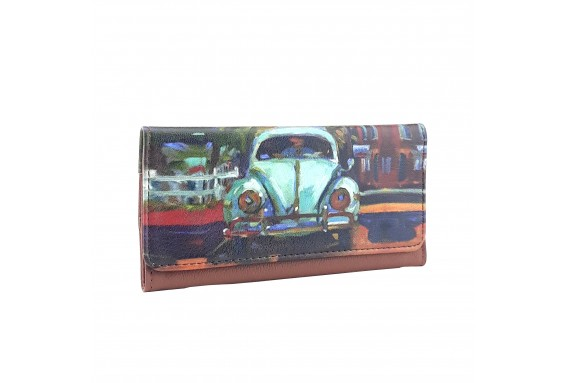 Beetle Car Printed Tobacco Pounch
