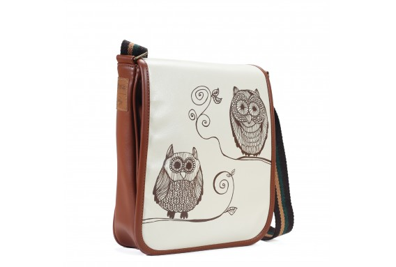 Owls Printed Shoulder Bag