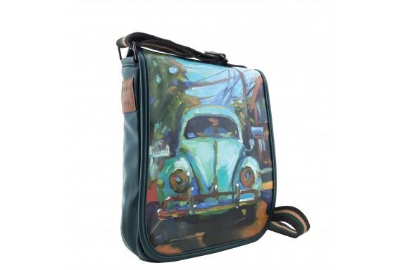 VW Beetle Printed Shoulder Bag