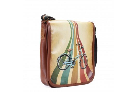 Bike Printed Shoulder Bag