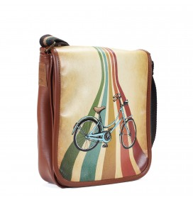 Bike Printed Shoulder Bag