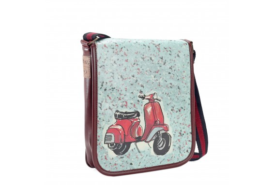 Vespa Printed Shoulder Bag