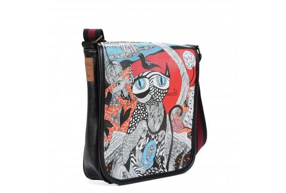 Cat Printed Shoulder Bag