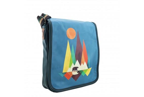 Bear Printed Shoulder Bag