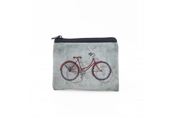 Bike Printed Visa & Coins Bag
