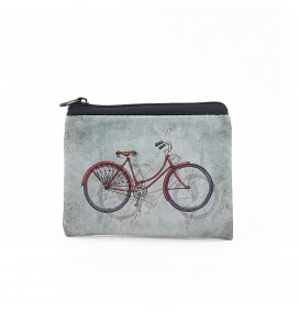 Bike Printed Visa & Coins Bag