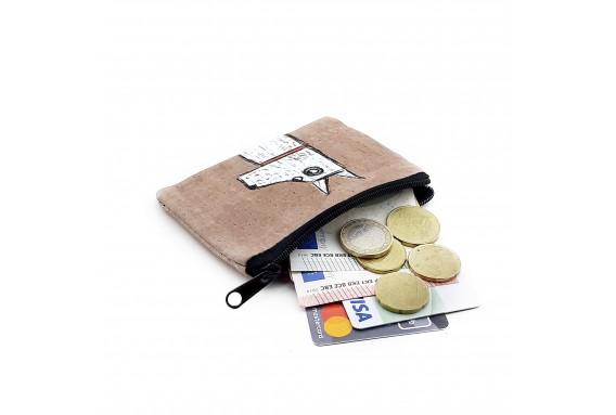 Dog Printed Visa & Coins Bag