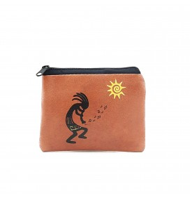 Kokopelli Printed Visa & Coins Bag