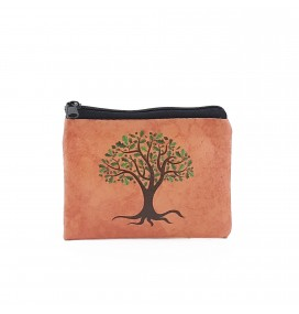 Tree Printed Visa & Coins Bag
