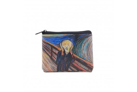 Edvard Munch Scream Printed Visa & Coins Bag