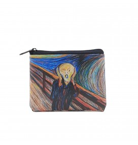 Edvard Munch Scream Printed Visa & Coins Bag