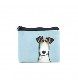 Dog Printed Visa & Coins Bag