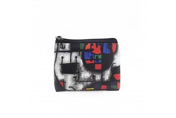 Joan Miro Printed Visa & Coins Bag