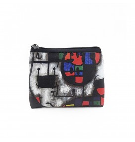Joan Miro Printed Visa & Coins Bag