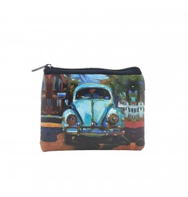 VW Beetle Printed Visa & Coins Bag