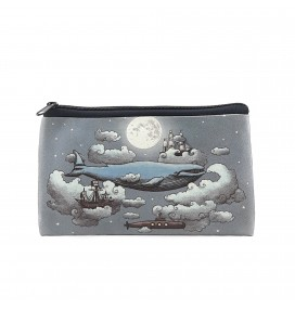 Whale Printed Big Coins Bag