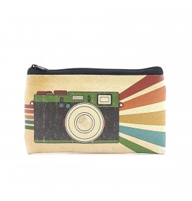 Retro Photocam Printed Big Coins Bag