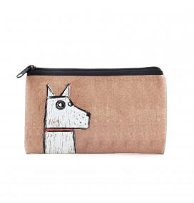 Dog Printed Big Coins Bag