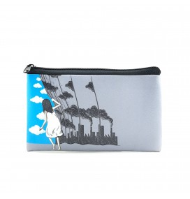Curtain Printed Big Coins Bag
