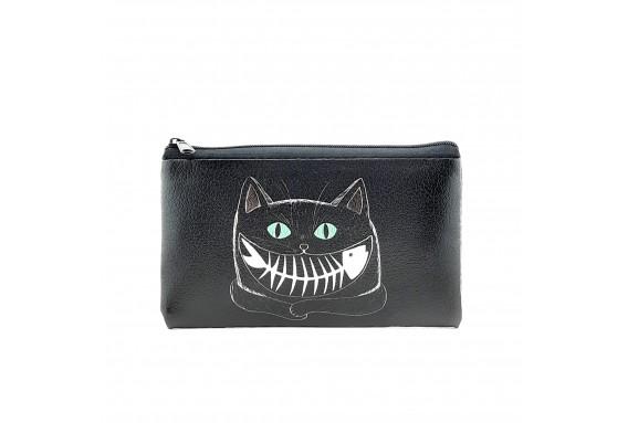 Cat Printed Visa & Coins Bag