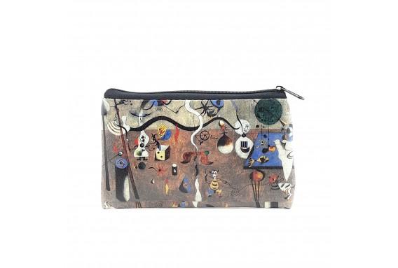 Joan Miro Carnival of Harlequin Printed Big Coins Bag