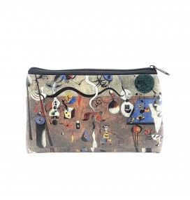 Joan Miro Carnival of Harlequin Printed Big Coins Bag