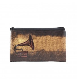 Gramophone Printed Big Coins Bag