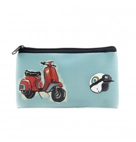 Vespa Printed Big Coins Bag